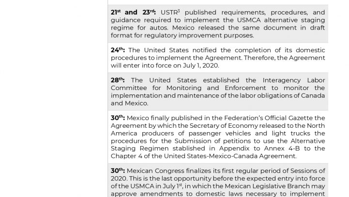 USMCA Implementation: Key Dates and Advocacy Opportunities