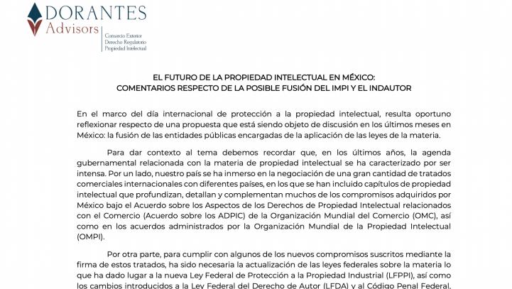 EL FUTURO DE LA PROPIEDAD INTELECTUAL EN MÉXICO